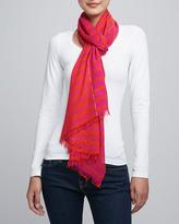 Kate Spade Striped Scarf, Pink/Orange
