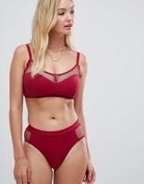 Pour Moi? Pour Moi Glamazon high leg bikini bottom in berry