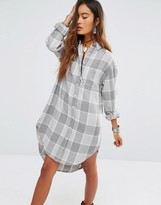 Glamorous Shirt Dress In Soft Check