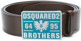 DSQUARED2 enamel buckle marrone belt - men - Leather - 85