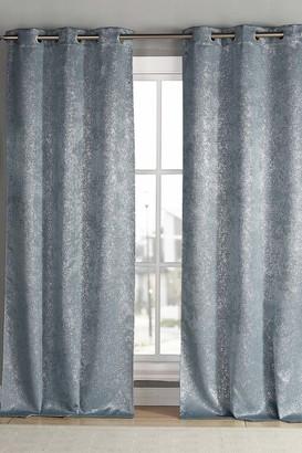 "Duck River Textile Maddie Blackout Grommet Curtains 96"" - Set of 2 - Slate Blue"