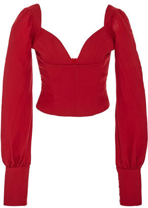 Cecil Andres Otalora Wool Fitted Top