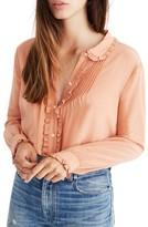 Madewell Women's Silk Ruffle Blouse