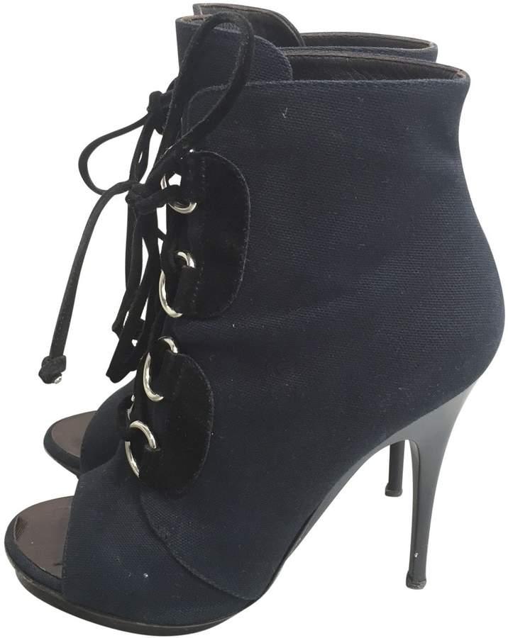 Giuseppe Zanotti Grey Cloth Ankle boots