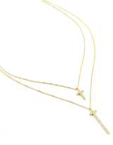 Natalie B Jewelry Way Up Necklace in Gold/Clear