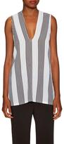 Lucca Couture Stripe V Neck Side Split Tunic