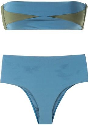 ESC Two-Tone High-Rise Bikini Set