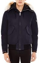 Sandro Canada Fur Trim Hooded Jacket