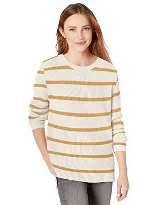 Goodthreads Cotton Half-Cardigan Stitch Crewneck Sweater Pullover,L