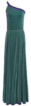 Missoni One-shoulder Metallic Stretch-knit Maxi Dress