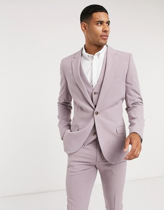 ASOS DESIGN super skinny suit jacket in dusty mauve