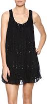 En Creme Blck Sequin Shift Dress
