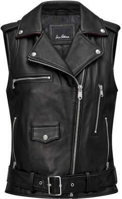 Sam Edelman Leather Moto Vest