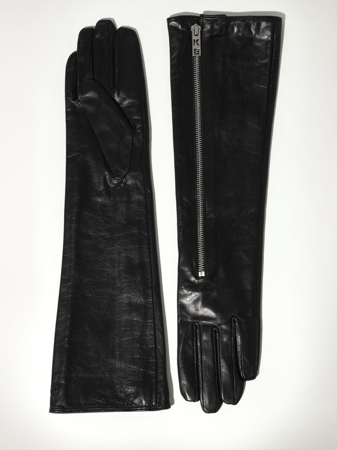 Karl Lagerfeld Paris ROCKY LONG SLOUCHY LEATHER GLOVES