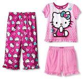 Hello Kitty Toddler Girls' 3pc Pajama Set Pink