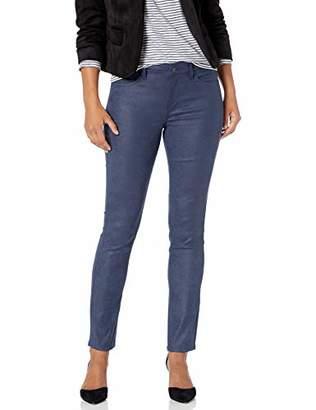 NYDJ Women's Petite Size Alina Skinny Faux Suede Jeans