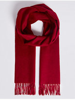 M&S Collection Extra Wide Pure Cashmere Woven Scarf