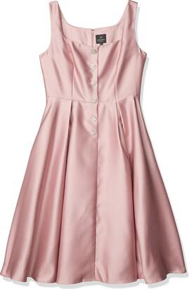 Adrianna Papell Women's Mikado Tea Length Dress