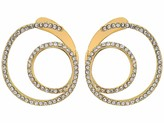 Vince Camuto Twisty Wrap Around Earrings with Pave Gold/Crystal One Size