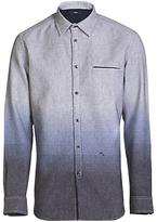 Diesel S-miramar Yarn Dyed Ombre Shirt, Peacoat Blue