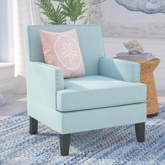 "Beachcrest Home Chilton 24"" Armchair Fabric: Light Blue"