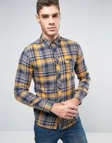 Wrangler Slim Fit Western Check Shirt Inca Gold