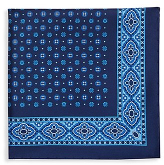 Saks Fifth Avenue Made In Italy Geometric-Print Silk Pocket Square
