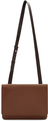 Loewe Brown Gusset Flap Messenger Bag