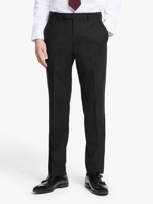 KIN Bengaline Wool Slim Fit Suit Trousers, Black