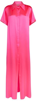 Area Nyc Silk Tunic Maxi Gown
