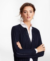 Brooks Brothers Supima Cotton Pointelle Cable-Knit Cardigan