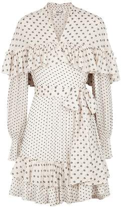 Diane von Furstenberg Martina Polka-dot Chiffon Wrap Dress