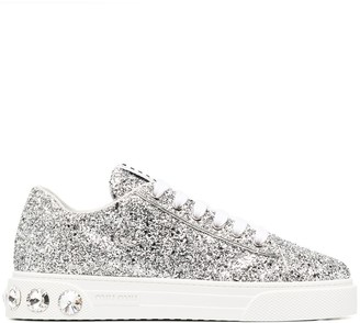 Miu Miu Glitter Low-Top Sneakers