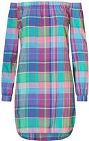 Polo Ralph Lauren Plaid Off-the-Shoulder Dress