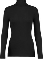 Enza Costa Ribbed modal-blend turtleneck sweater