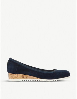 Dune Action suede flatform loafers