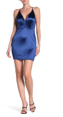 Jump Satin Plunge Bodycon Dress