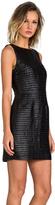 BB Dakota Branson Faux Leather Circle Pailette Dress