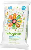 BabyGanics Flushable Wipes