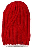 Tommy Hilfiger Red Knitted Beanie Hat