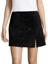 Blank NYC Front Slit Suede Mini Skirt