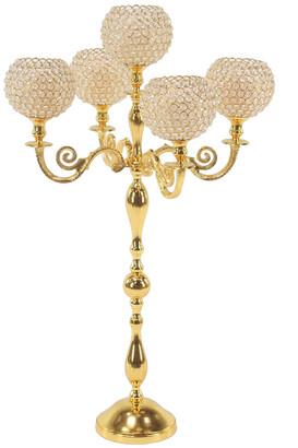 Uma Enterprises Traditional 5-Light Gold Beaded Candelabra