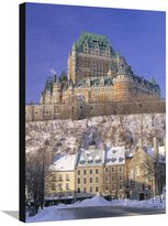 Art.com Chateau Frontenac Hotel, Quebec City, Quebec, Canada Stretched Canvas Print By Walter Bibikow - 61x81 cm