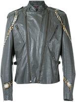 À La Garçonne - hand painted biker jacket - unisex - Leather - M