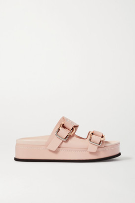 3.1 Phillip Lim Freida Leather Platform Sandals - Blush