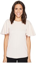 Ellen Tracy Flounce Sleeve Top Women's Clothing