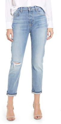 7 For All Mankind Josefina High Waist Crop Boyfriend Jeans