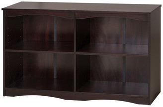 "Ecoflex Furniture Essentials Wooden Bookcase 51"" Wide, Cappuccino Finish"