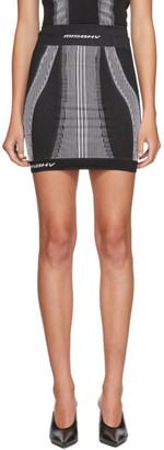 Misbhv Black and White Active Miniskirt