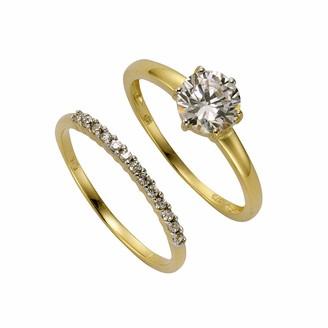 Celesta 363370029-2-056 Ring Two-Coloured Gold 9 Carats 375/1000 2.6 g Zirconium Oxide